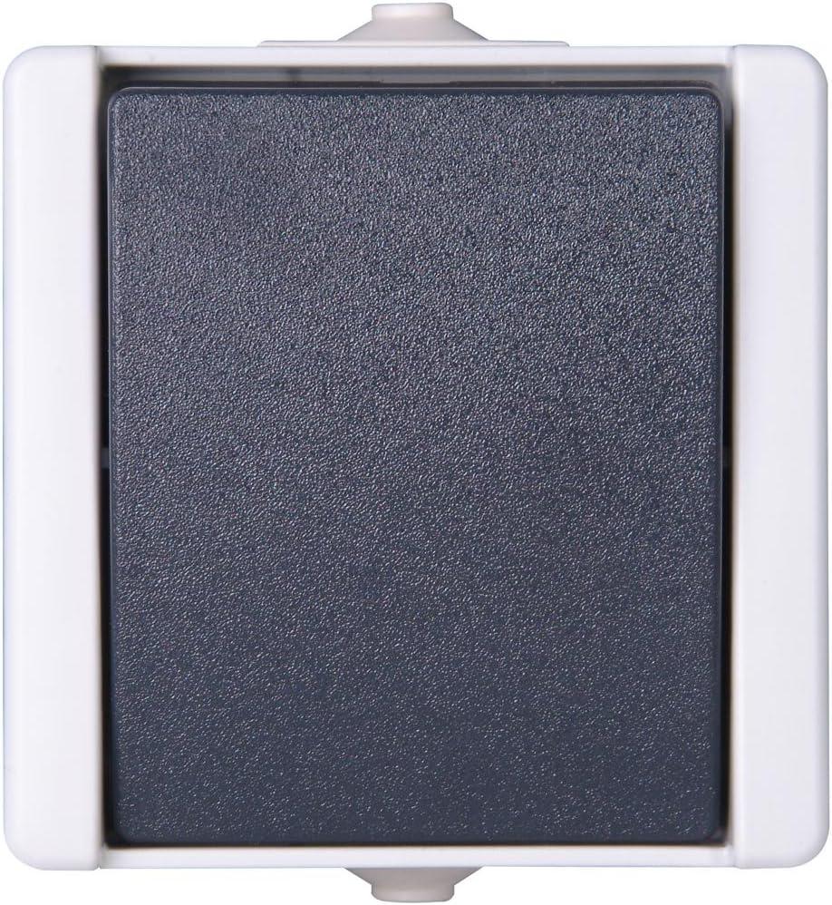 con tapa para lugares h/úmedos Kopp 540656002 Pro AQA apagado y cambio Interruptor universal