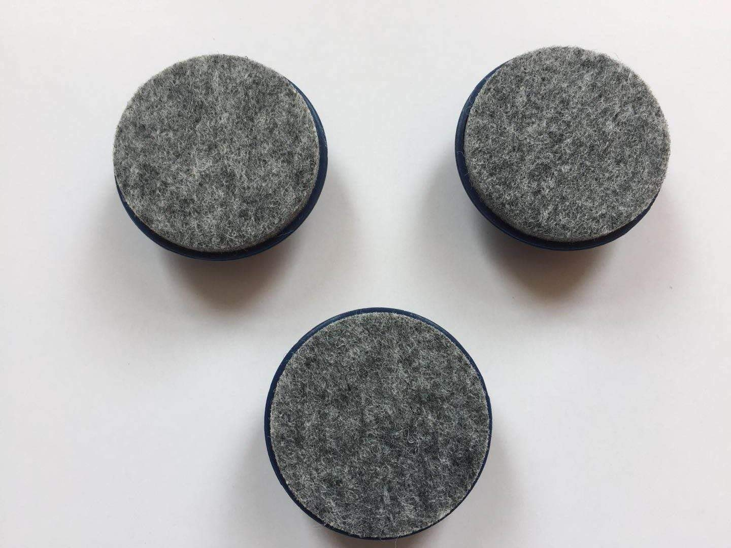 Quiet Glides with DuraFelt / 200 Count/Alternative to PreCut Tennis Balls/Blue/Snaps On/Reduce Noise/Prevent Scuffs and Scratches/Glides for Chairs, Desks, Tables, Stools Etc.