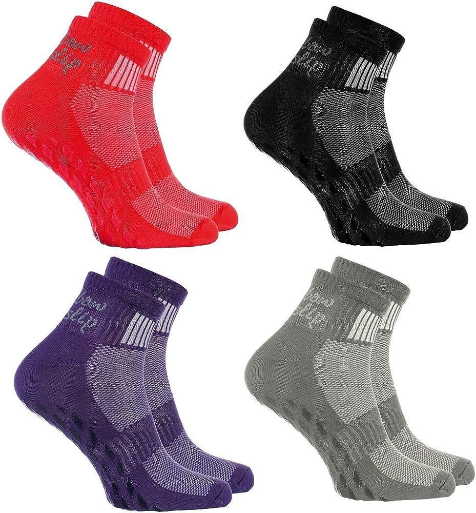 Rainbow Socks Donna Uomo Sportive Calze Antiscivolo ABS di Cotone