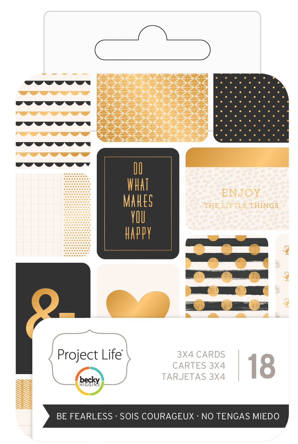 Becky Higgins - Project Life - 3 x 4 - Theme Cards - Be Fearless (6 Pack)
