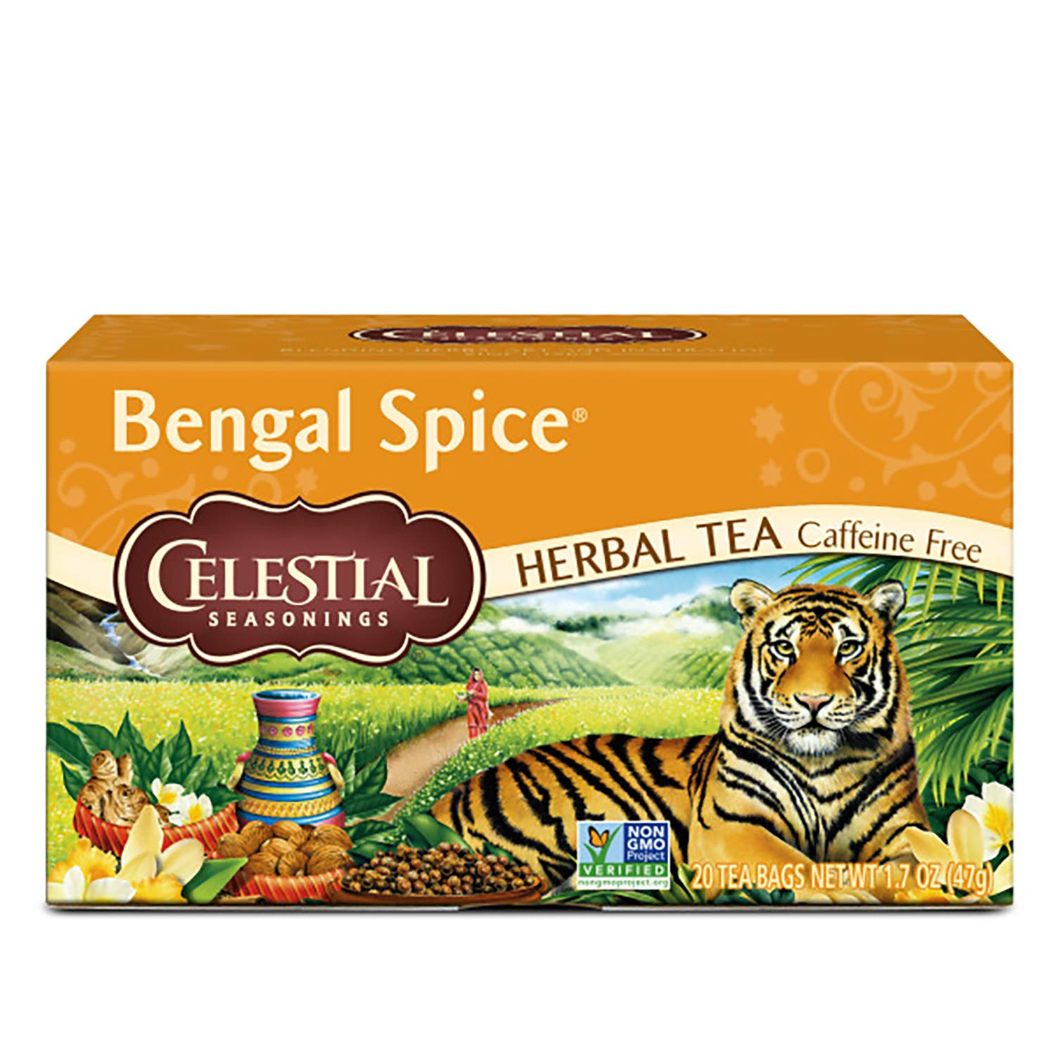 Celestial Seasonings Bengal Spice Herbal Tea, 20 ct