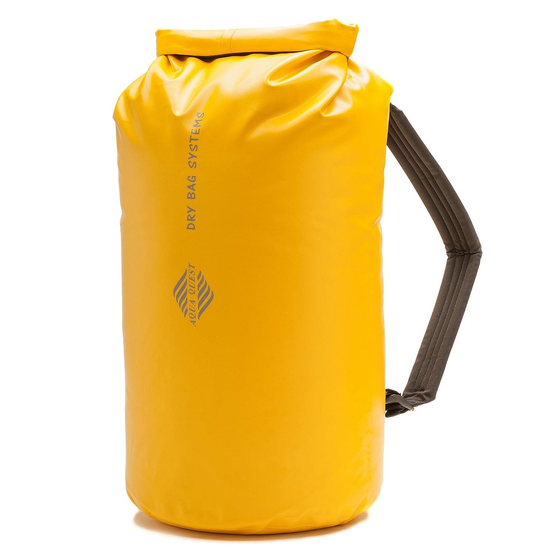 20L Waterproof Dry Bag Backpack - Aqua Quest Mariner 20 - Roll Top Kayaking Boat Bag, Adjustable fit for Men & Women - Black #690-20L