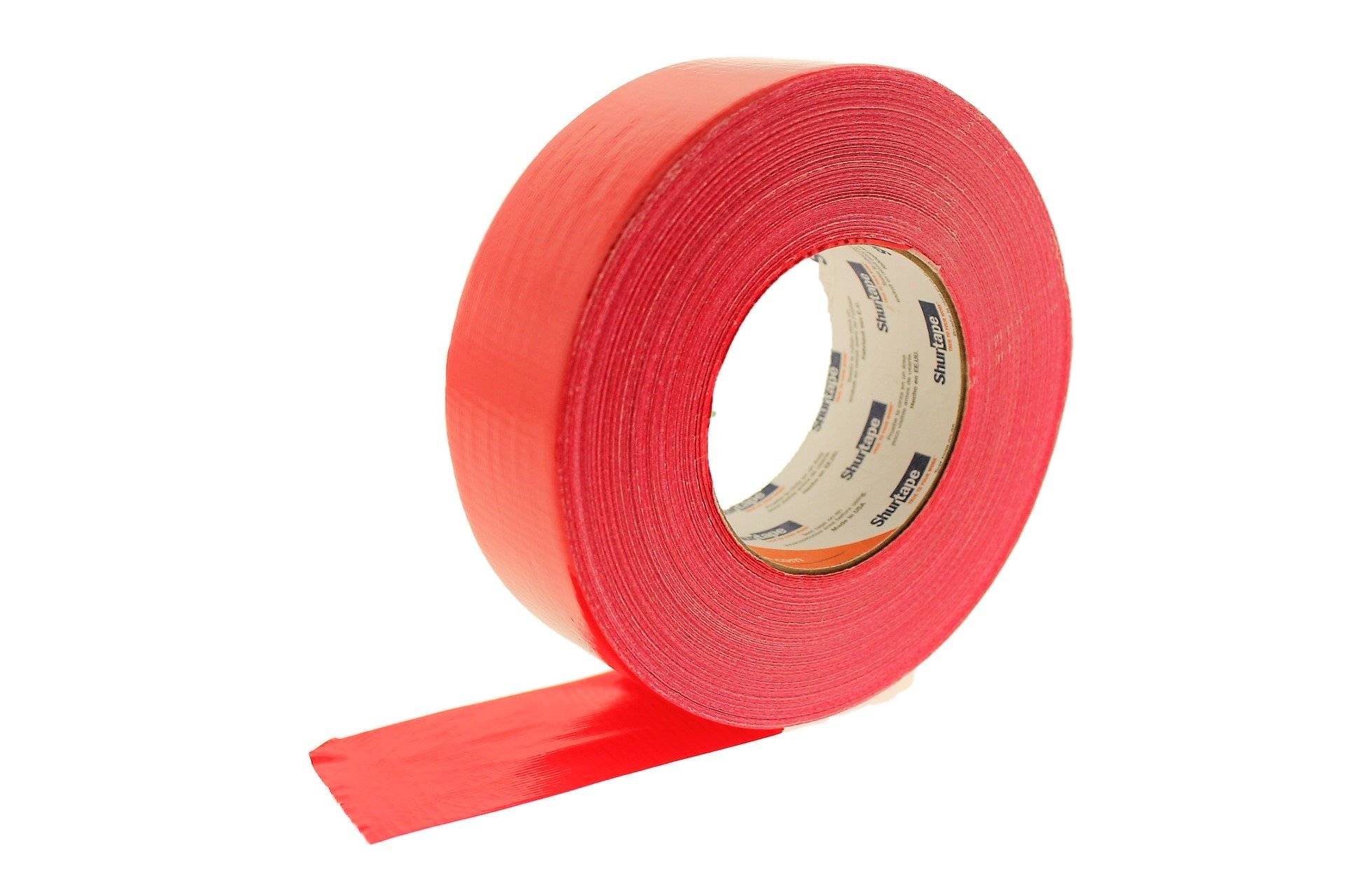 PC-600 Shurtape 2'' Red 9 Mil Cloth Duct Tape Waterproof Hand Tearable UV Resistant High Visibility Industrial Grade Heavy Duty Pro Colored Duct Tape Colors USA Made 60yd