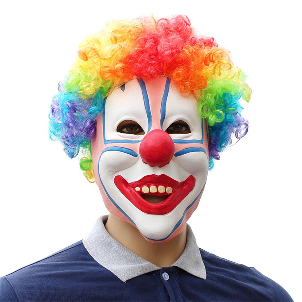 JTWJ Halloween Urlaub Party liefert humanoiden Latex Maske Maske Maske farbigen Clown a71adb