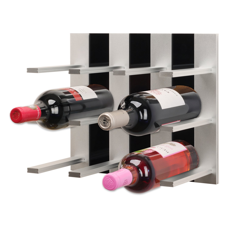 TOP WINE RACK Topwinerack - Modular Wine Rack Wall Mounted (Black)