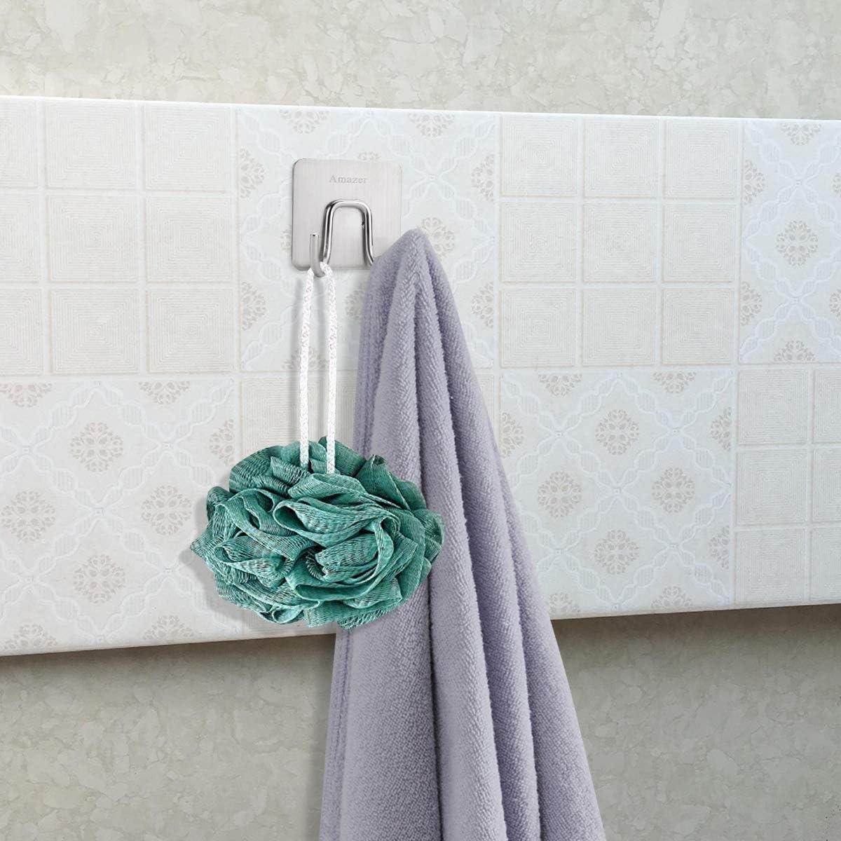 Amoyer 12 Piezas Y Forma de Gancho suspensi/ón de la Toalla para toallero radiador Tubular Bath Holder Hook Rack de Almacenamiento Bath Hook