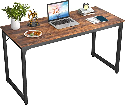 Foxemart 47 Inch Computer Desk Sturdy Office Desks 47 Modern PC Laptop Notebook Study Writing Table