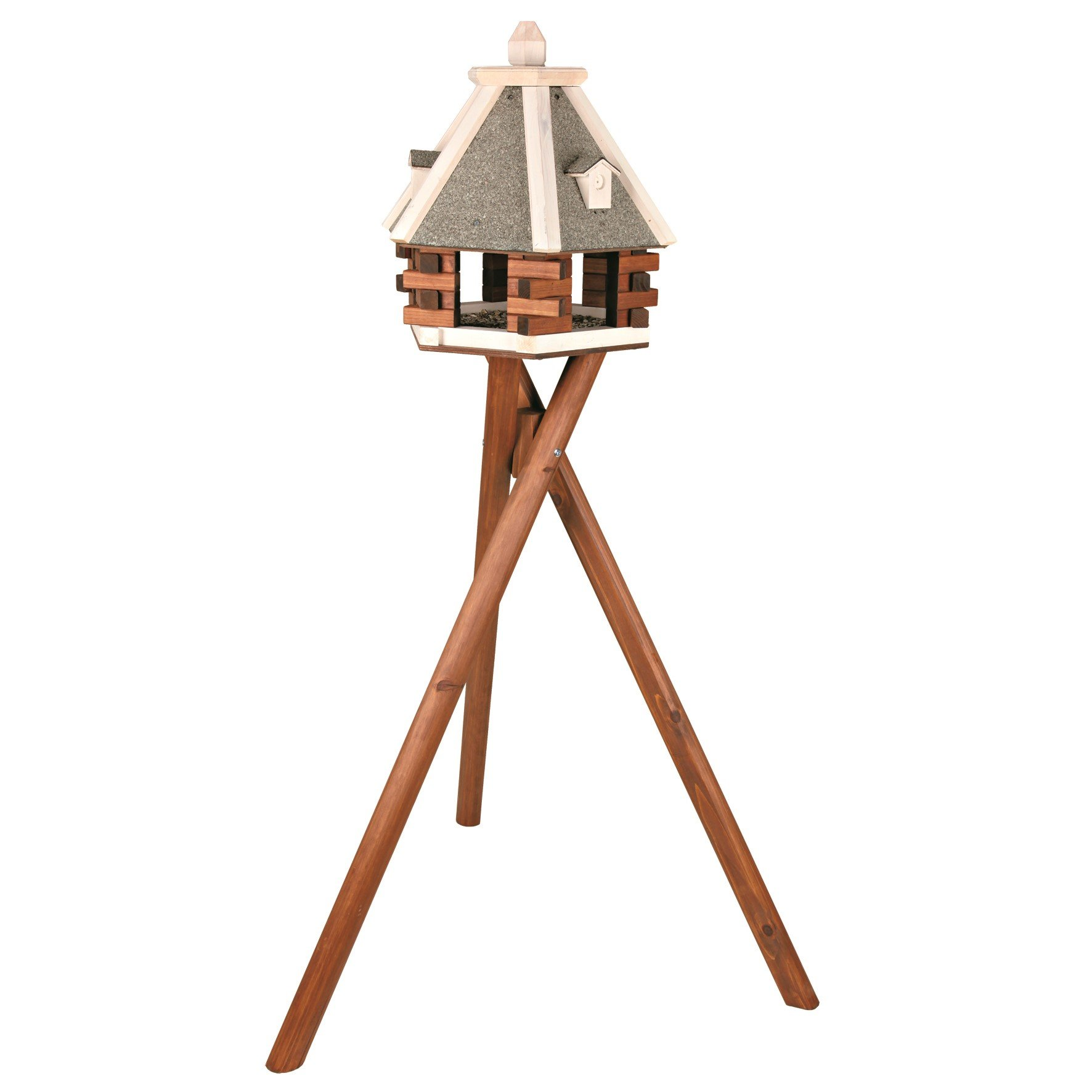 Trixie Pet Products Nordic Wooden Bird Feeder with Stand by Trixie