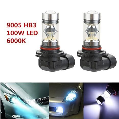 TKOOFN 2pcs 100 W Lámparas LED Niebla conducción luz H1 H3 H4 H7 H8 H11 HB3 ...