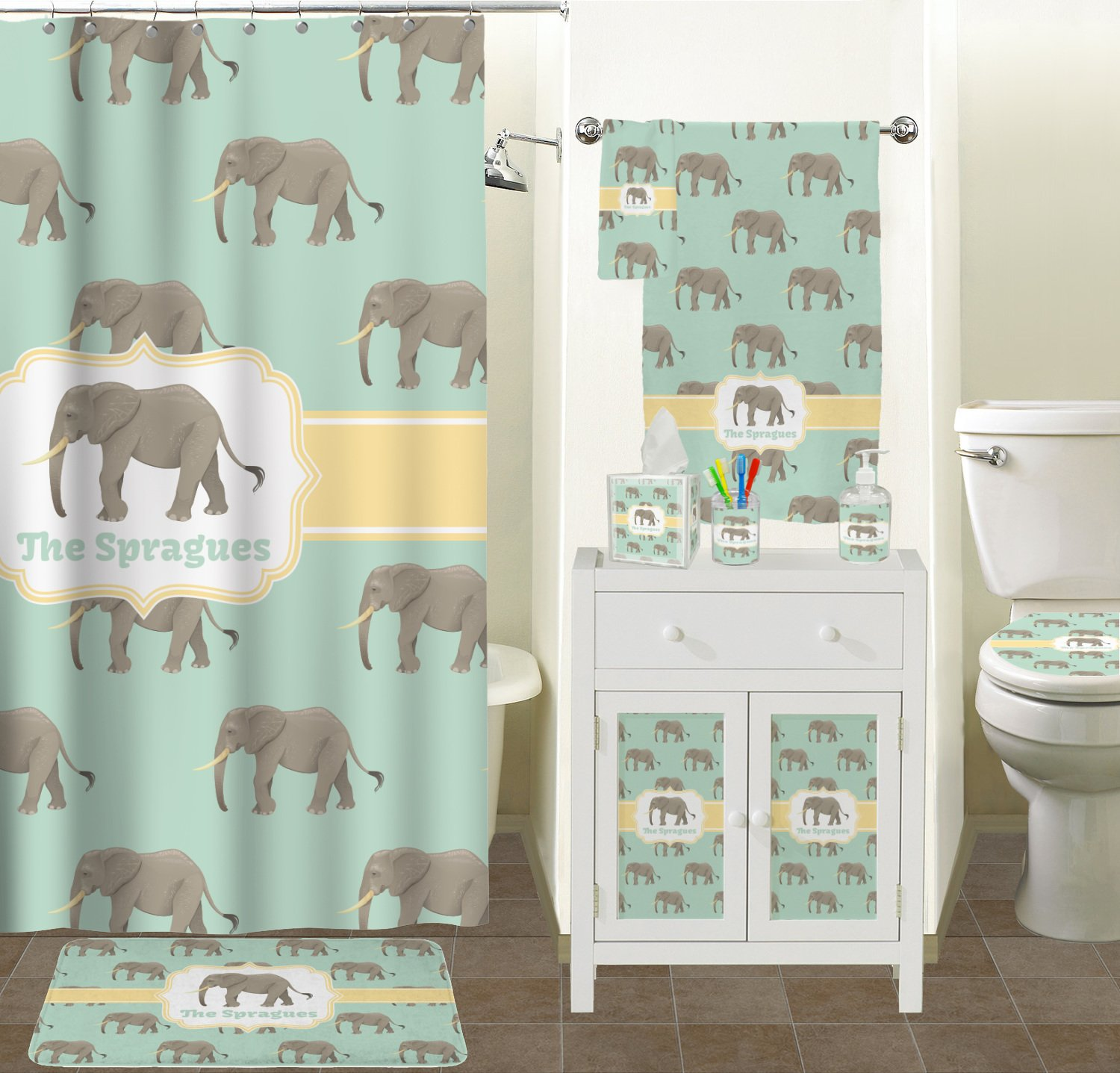 RNK Shops Elephant Finger Tip Towel (Personalized) by RNK Shops (Image #2)
