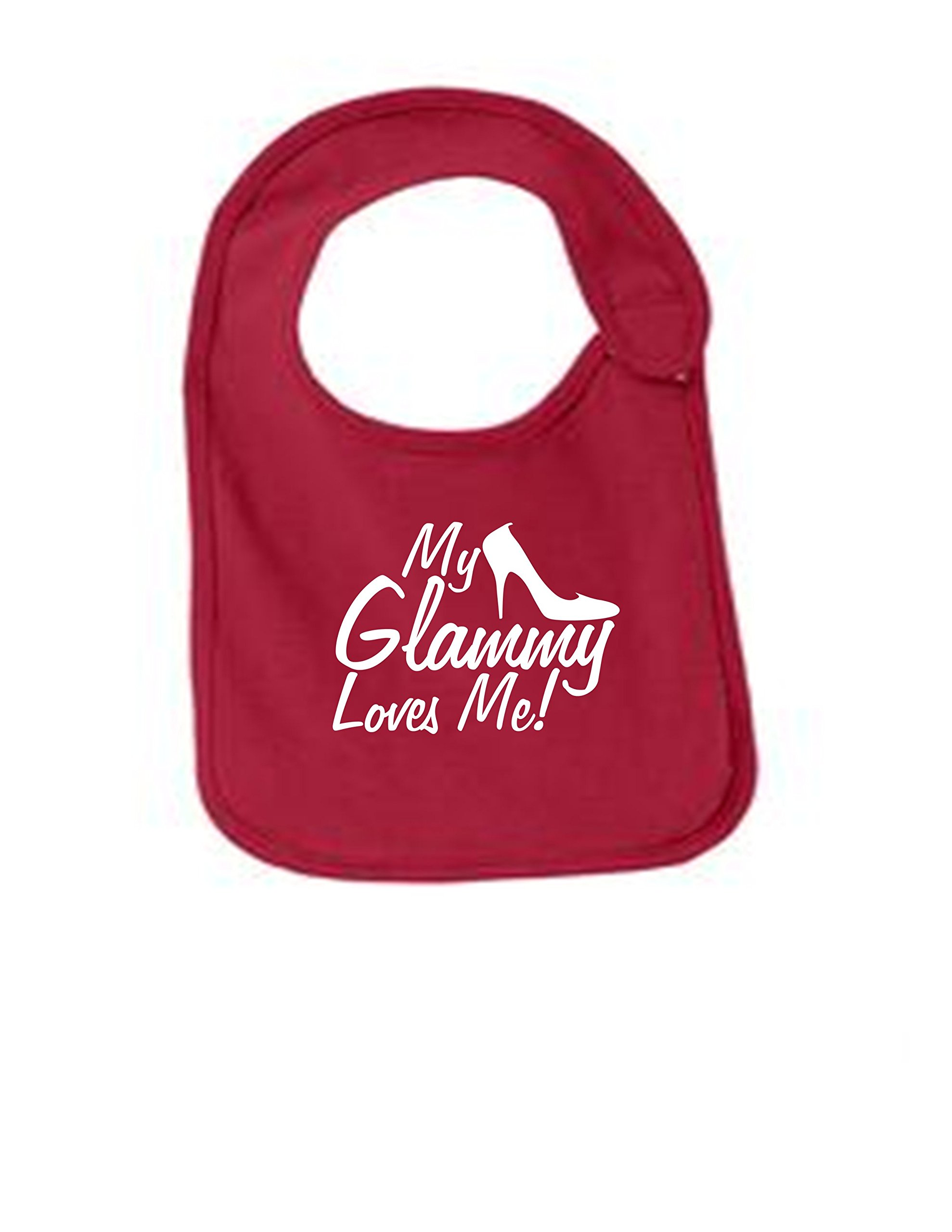 My Glammy Loves Me Funny Infant Jersey Bib Red One Size