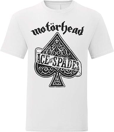 LaMAGLIERIA Camiseta Hombre Motorhead Ace of Spades Black Print - Camiseta 100% algodón: Amazon.es: Ropa y accesorios