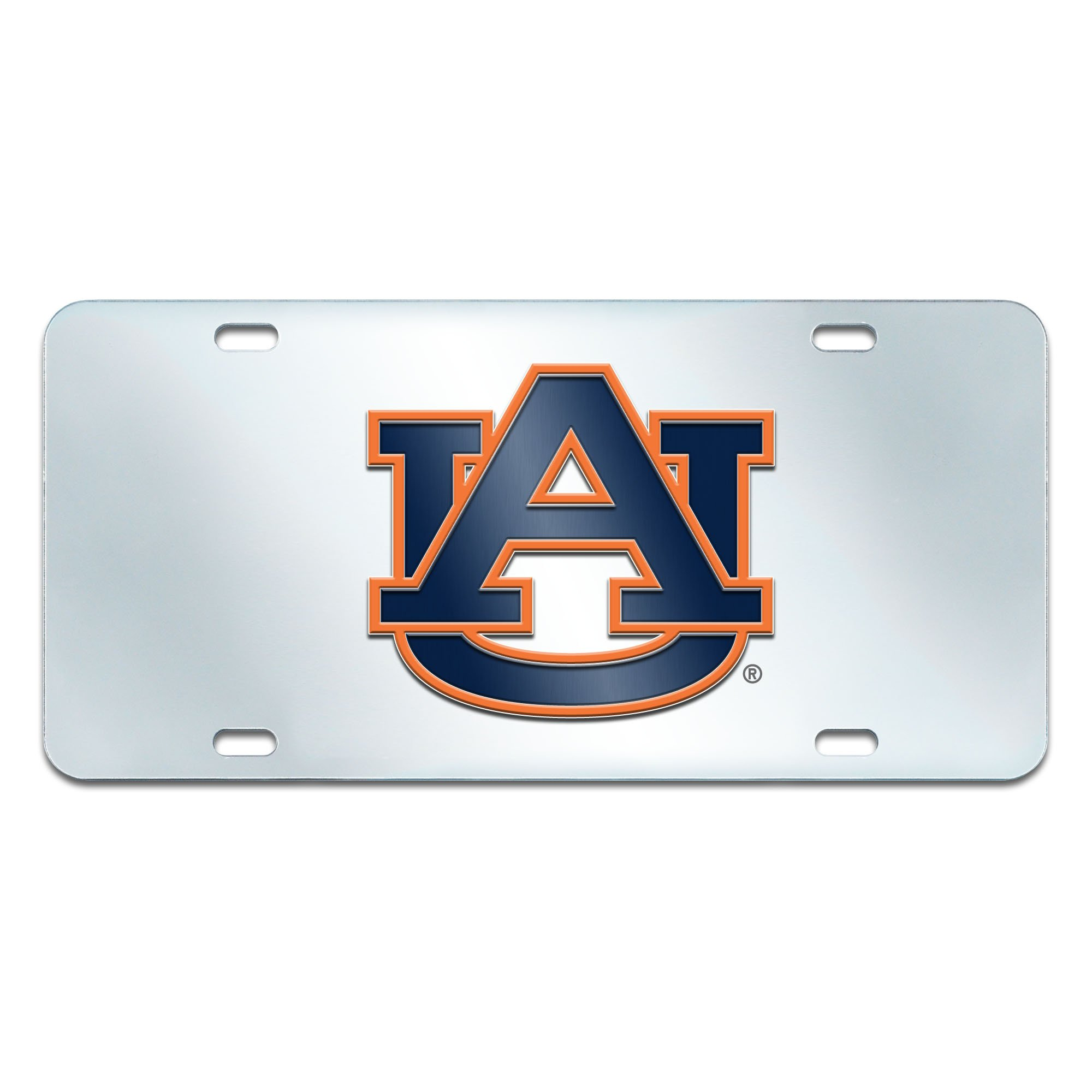 Fanmats NCAA Auburn University Tigers Plastic License Plate (Inlaid)