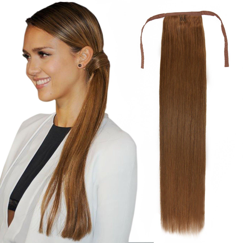 Amazon 22 Wrap Around Ponytail Human Hair Extensions Long