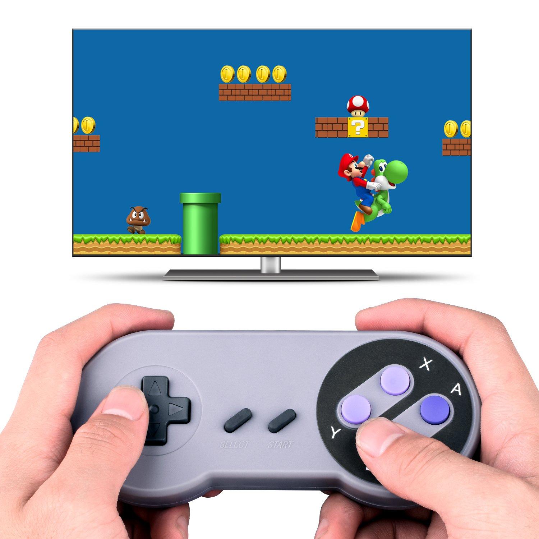 Amazon.com: Quimat 2 Pack SNES Retro USB Gaming Controllers Gamepads