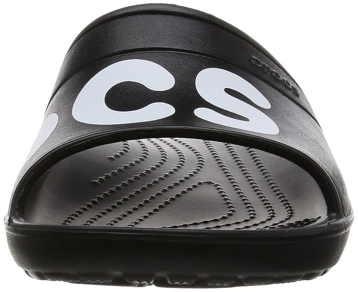 crocs Unisex-Erwachsene Classic Graphic Slides 204465 Pantoletten