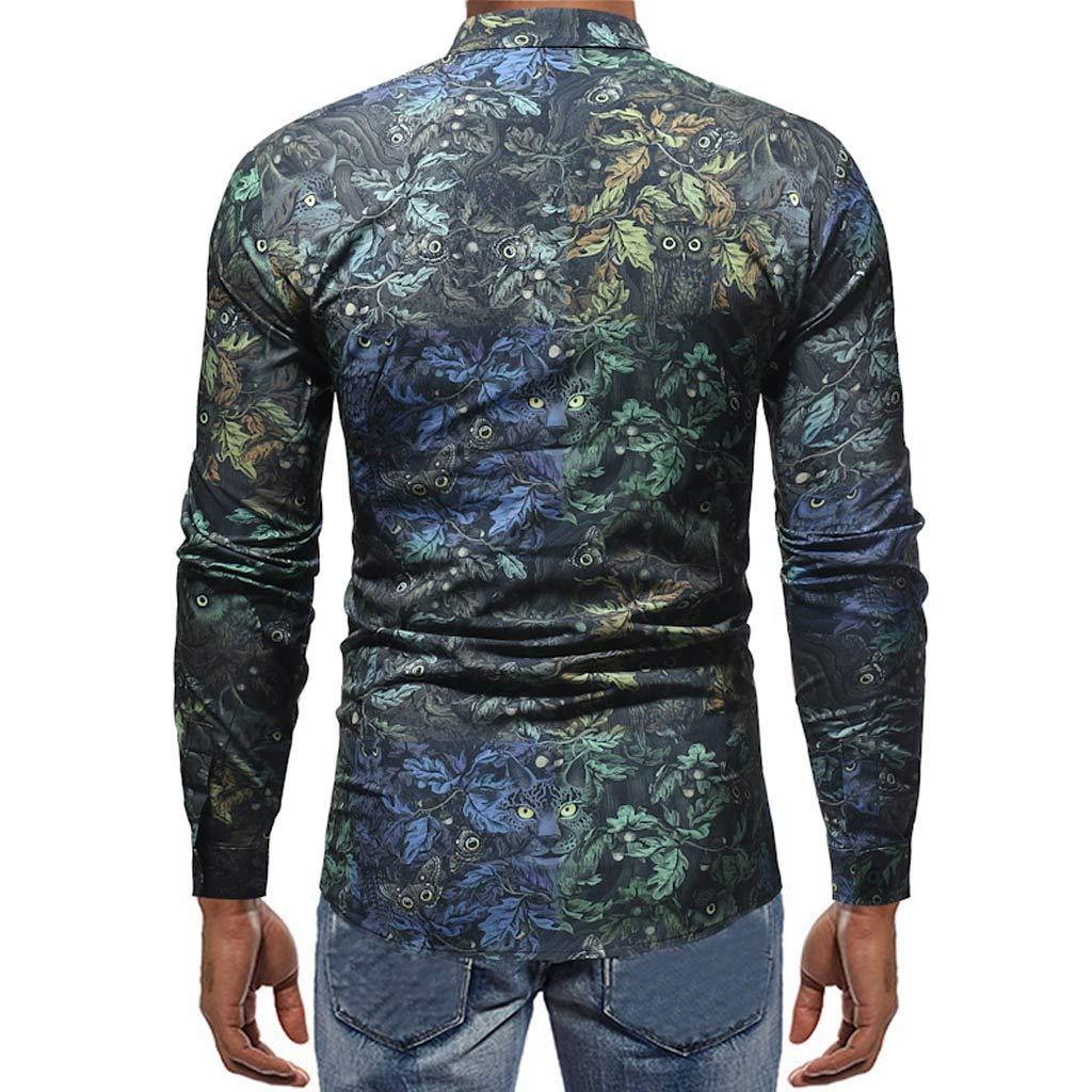 BBsmile Ropa de hombre Otoño Invierno Primavera Camisas de Hombre Estampadas Talla Grande Gemelos Camiseta Hombre Manga Larga Guapa Ofertas Marcas: ...