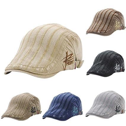 d8747be82e2 Nacome Men s Cotton Flat Cap Ivy Gatsby Newsboy Hat Cabbie Hat Gatsby Hat ( Beige)