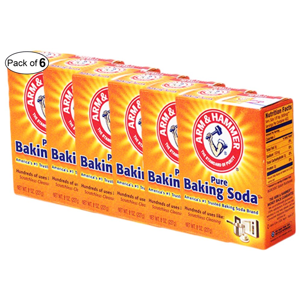 Arm & Hammer - Pure Baking Soda for Scratchless Cleaning (227g) (Pack of 6)