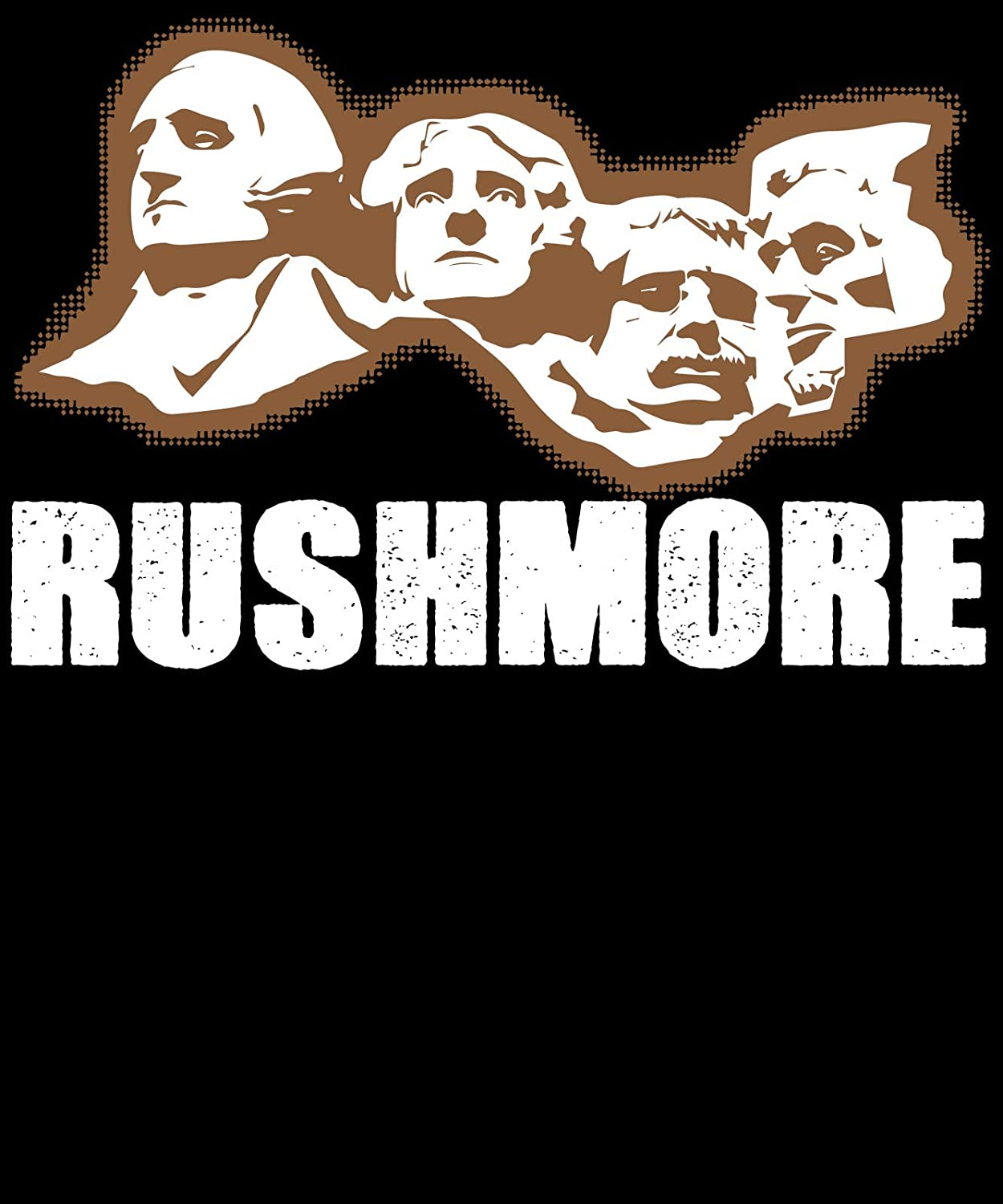 Market Trendz T Shirt Mount Rushmore Mountain President History Brown White