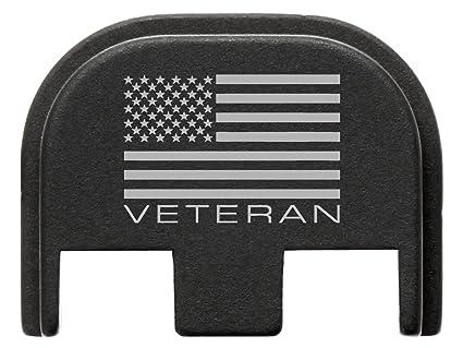 for Glock Gen 5 Back Plate 9mm 17 19 19x 26 34 Black NDZ US Flag Veteran