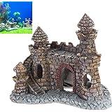 Adorno de acuario decoración, vintage imitación castillo pecera acuario accesorios…