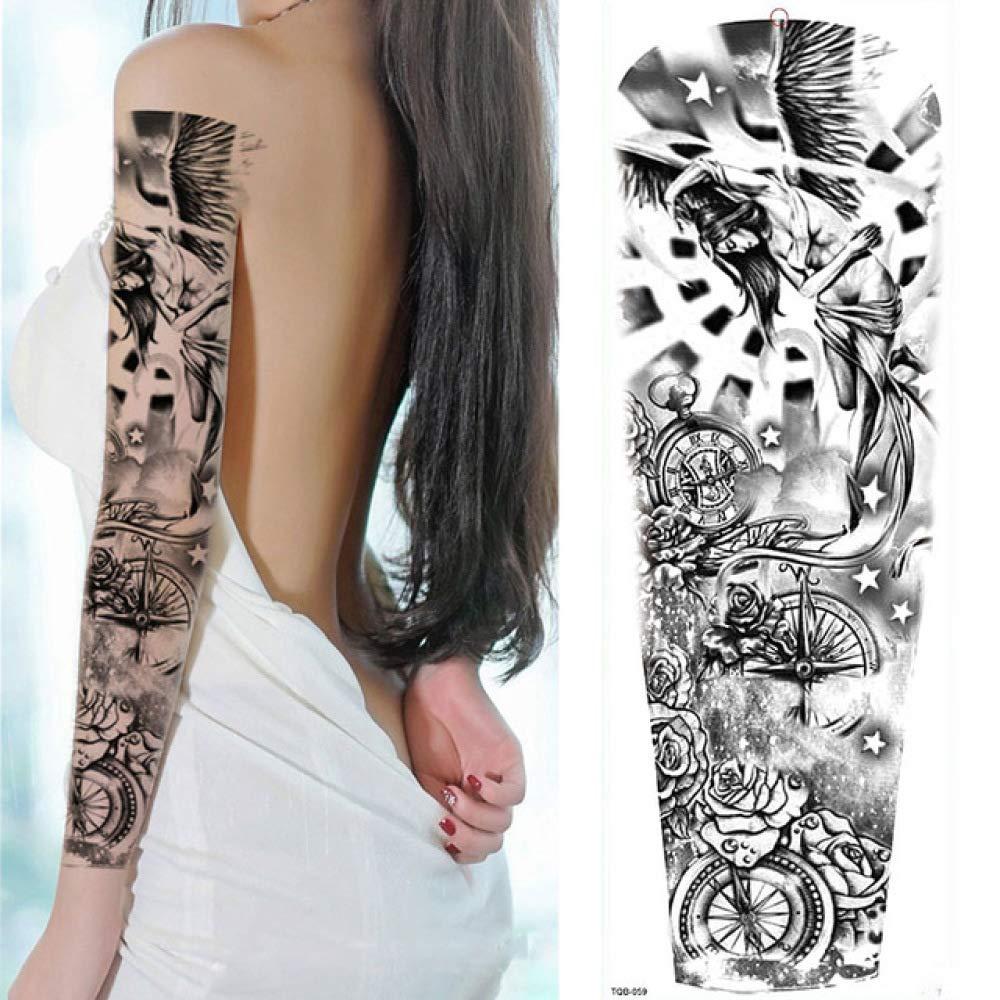 7pcs Engomada del tatuaje del tatuaje del tatuaje de la hoja de ...