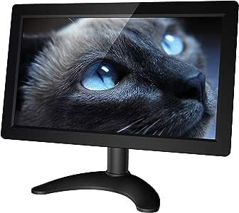 Kuman Monitor de 10.1 Pulgadas de CCTV con Pantalla TFT de 1024 x 600 con VGA + HDMI + AV, Altavoz Incorporado para Raspberry, PS4, Cámara de CCTV (Negro) SC101: Amazon.es: Electrónica