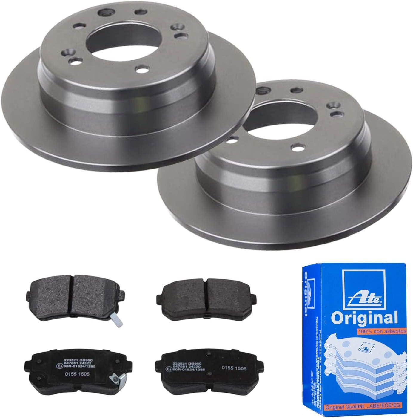 Ate 2 Brake Discs Diameter 262 Full Brake Pads For Hyundai I30 Fd Ix35 Auto
