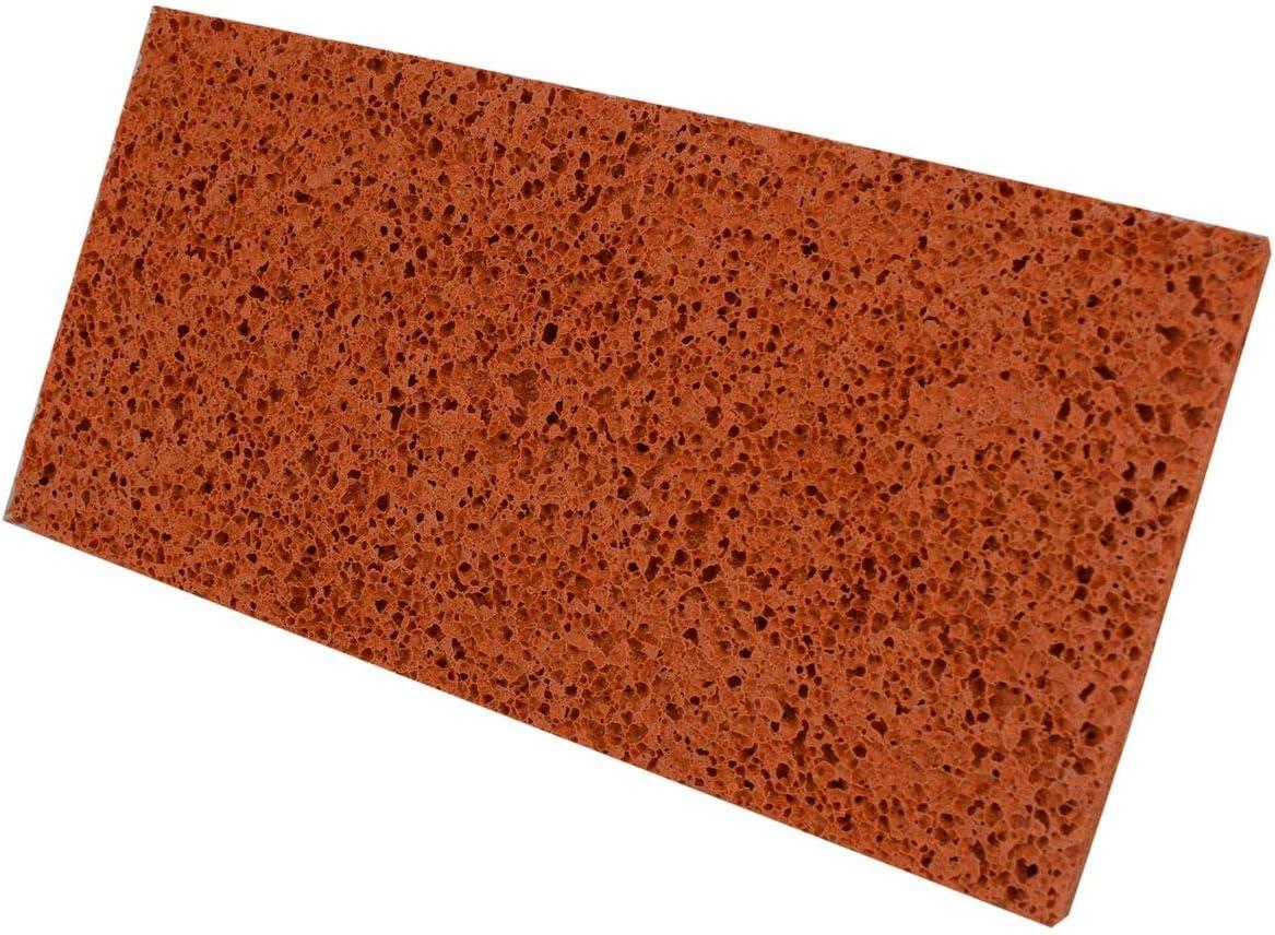 Gummi 280x140x18 mm Putz Schwammbrett Schwammgummi orange Waschbrett