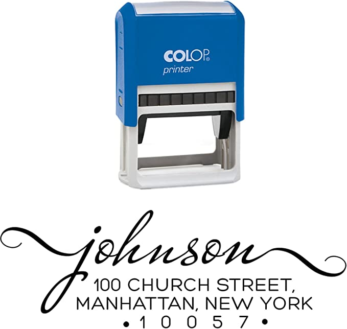 PrintValue Self Inking Rubber Stamp Master Text Personalised COLOP 20 Mouse Stamper Office Stationary Accessory