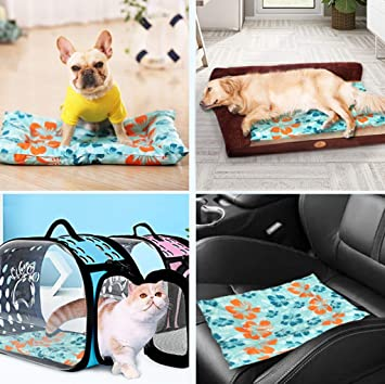 Amazon Com Junphsion Dog Cooling Mat Pet Dog Cat Cooling