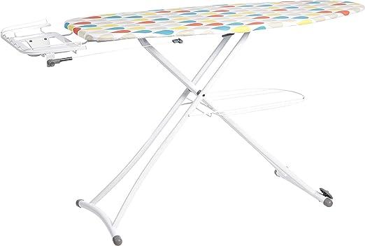 AmazonBasics - Tabla de planchar con bandeja y soporte para plancha en forma de H, grande, 137 x 46 cm, blanco: Amazon.es: Hogar