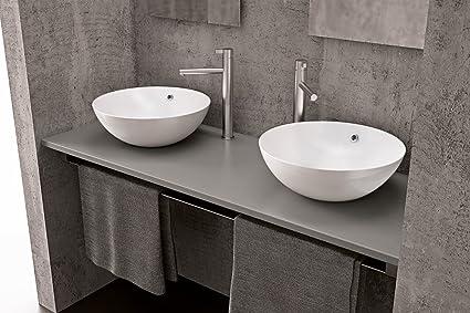 Kassel lavabo d appoggio cm altezza cm amazon casa e