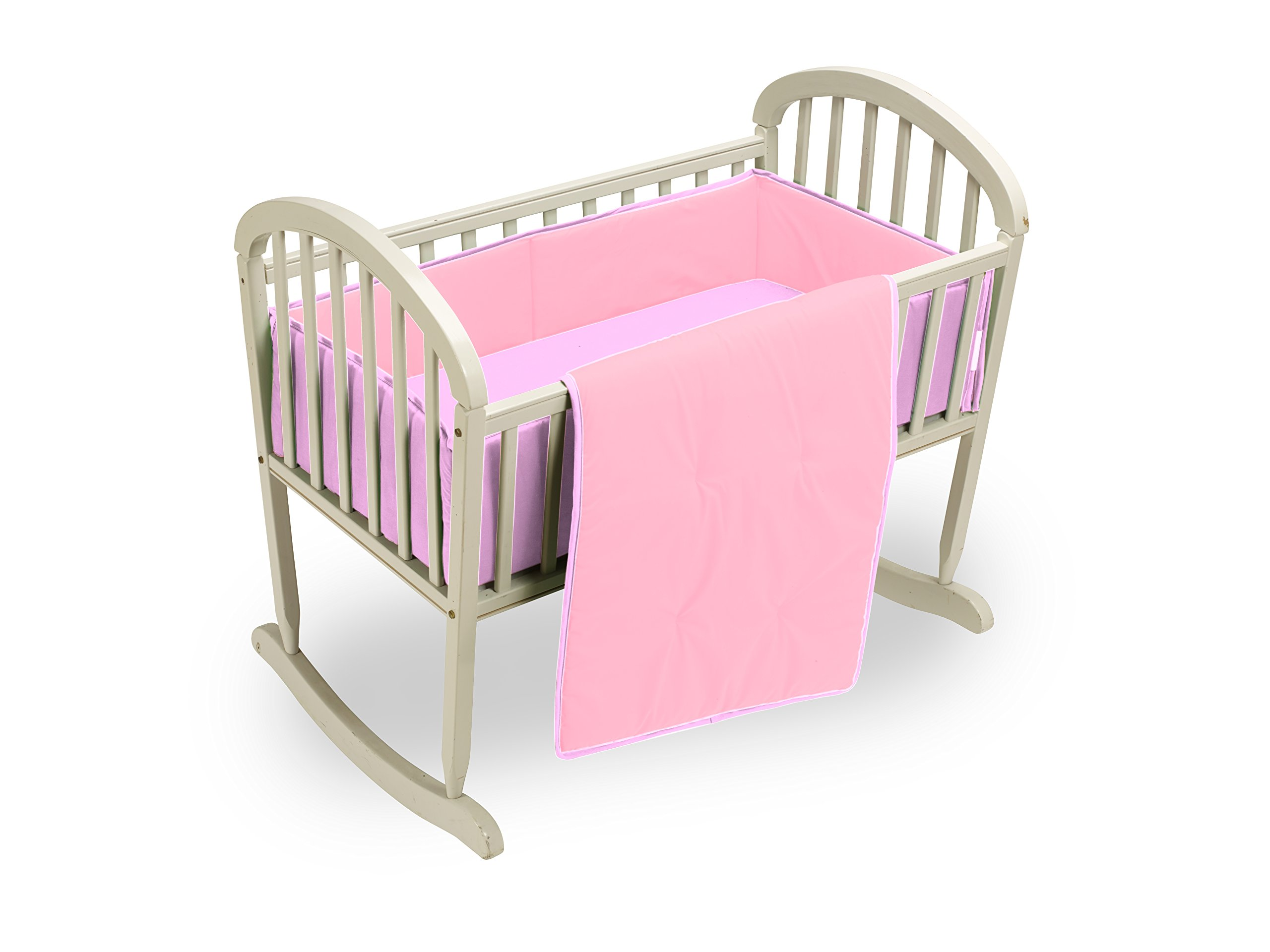 Baby Doll Bedding Reversible Cradle Bedding, Pink/Lavender