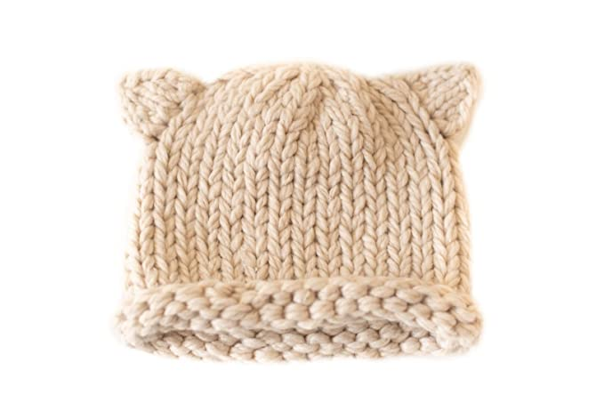 1582e3f97ee comfydots Wool Hat for Kids. Winter Beanie. Merino Wool Organic Hat with  Ears.