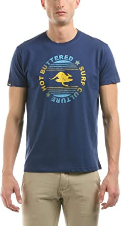 Hot Buttered Camiseta Manga Corta Surf Culture Azul Marino L: Amazon.es: Ropa y accesorios