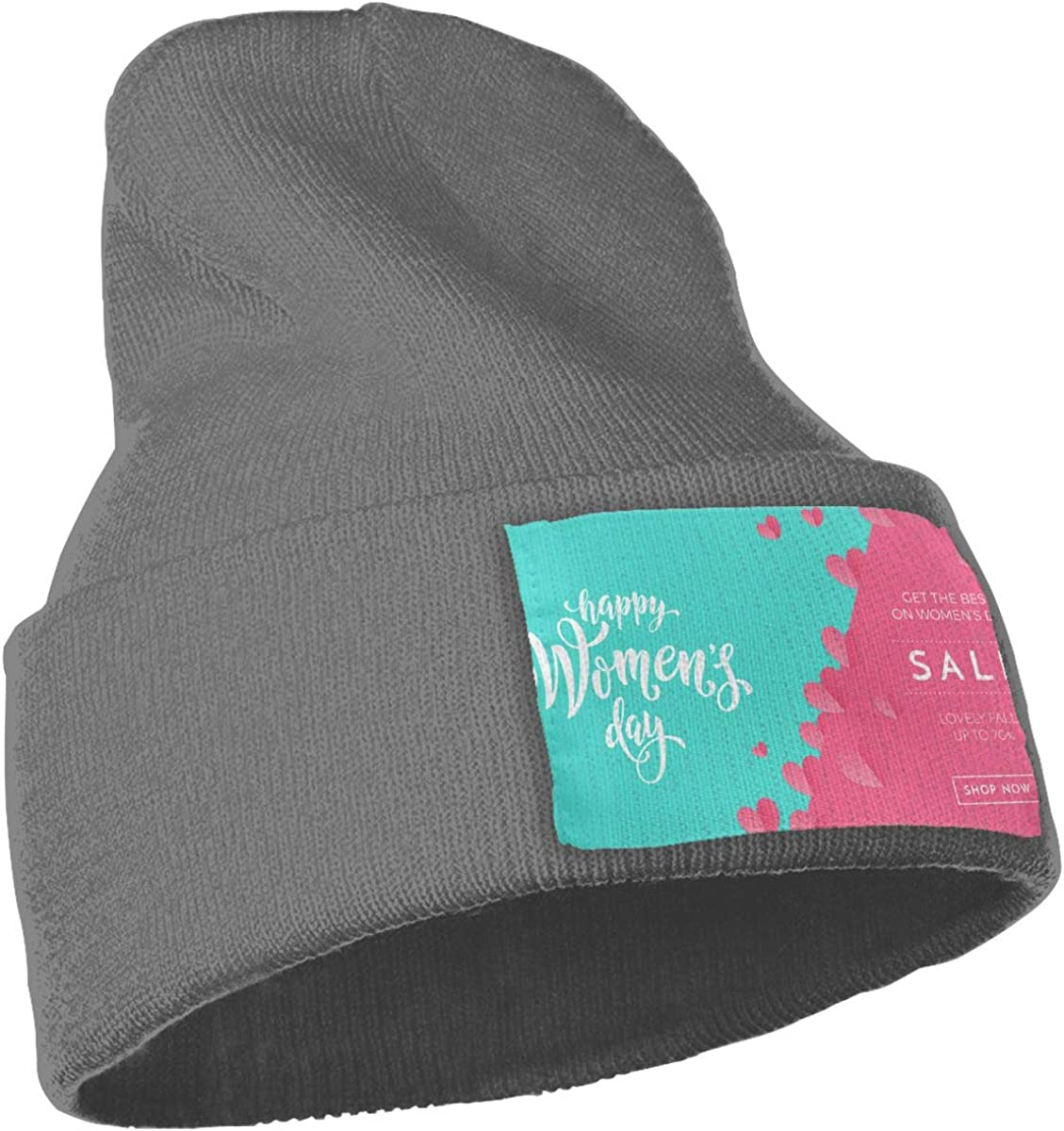Green and Pink Background Art Unisex Fashion Knitted Hat Luxury Hip-Hop Cap