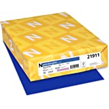 """Neenah Paper 21911 Astrobrights Colored Cardstock, 8.5"""" x 11"""", 65 lb / 176 GSM, Blast-Off Blue, 250 Sheets"""