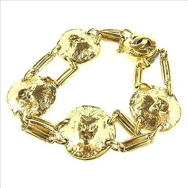 5c26047ede8e (シャネル) Chanel ブレスレット アクセサリー ゴールド ライオン×ココマーク レディース メンズ 可 中古 T1667