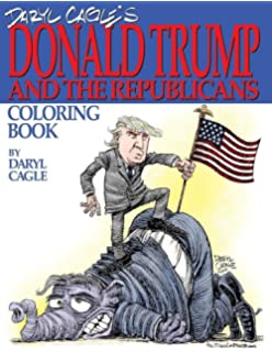 daryl cagles donald trump and the republicans coloring book color the donald the - Barack Obama Coloring Book