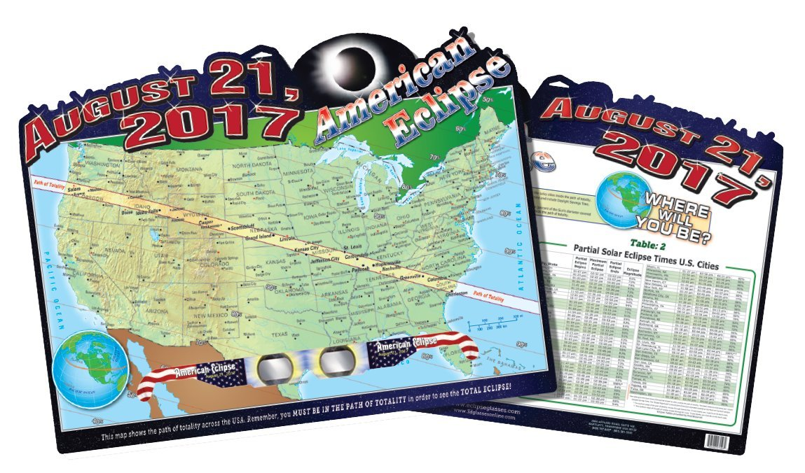 American Eclipse Map Poster 0748486274262 Buy New And Used