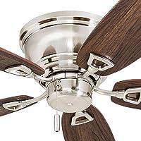 """Honeywell Ceiling Fans 50515-01 Glen Alden Ceiling Fan, 52"""", Brushed Nickel"""
