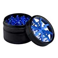 """Lightning Grinder with Sifter and Magic Top, Fancyli Premium Aluminum 4 Pieces 2.48"""" Tobacco Grinder Spice Grinder Herb Grinder with a Cleaning Brush"""