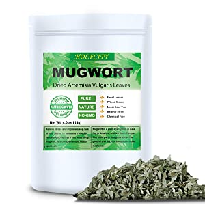 Dried Mugwort Leaves, 4oz(114g), Natural Artemisia Vulgaris Herb Loose Leaves