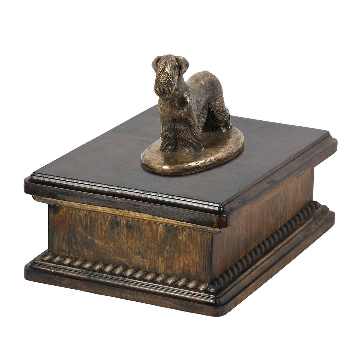 Cesky Terrier, memorial, urn for dog's ashes, with dog statue, exclusive, ArtDog