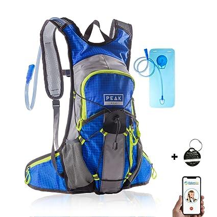 Amazon.com: Peak Gear - Mochila de hidratación, sin BPA ...