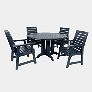 product image for highwood AD-DNW48-FBE Weatherly 5-Piece Round Dining Set, Federal Blue