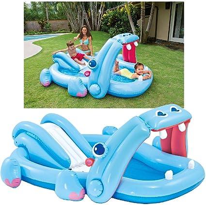 Intex 57150NP - Piscina hinchable hipopótamo 221 x 188 x 86 cm, 227 litros: Amazon.es: Juguetes y juegos