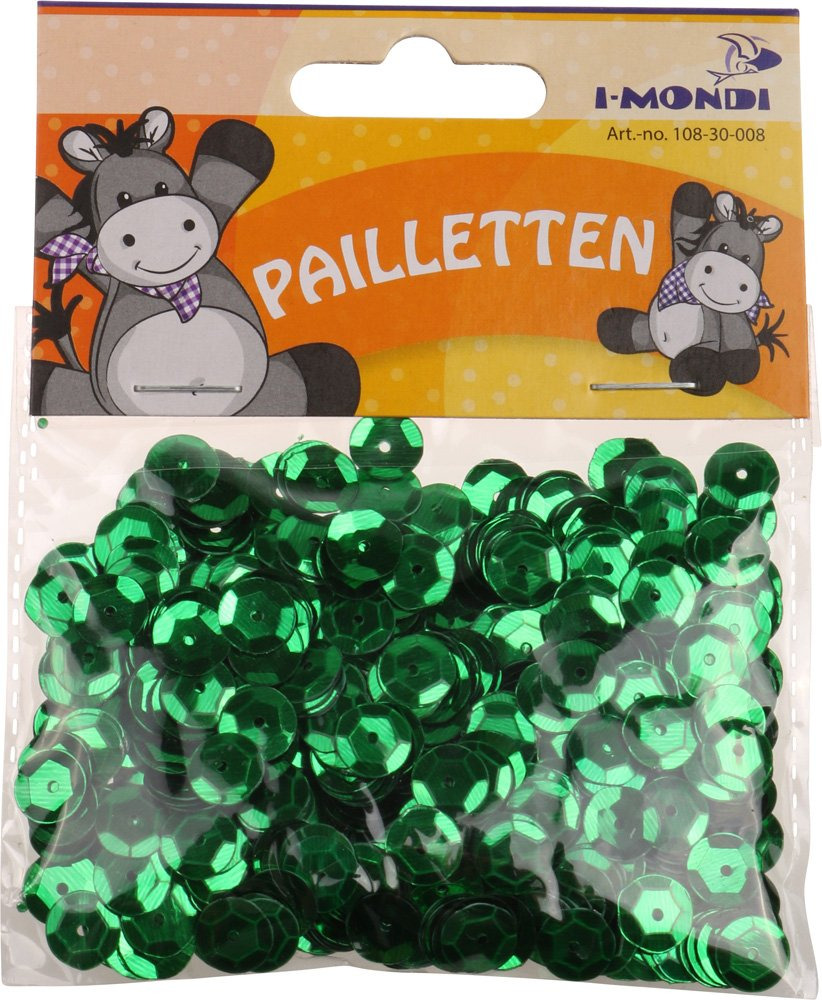 i-mondi® Lentejuelas color verde forma redonda tamaño Ø 9 mm manualidades costura bordado, contenido 15 g.: Amazon.es: Hogar